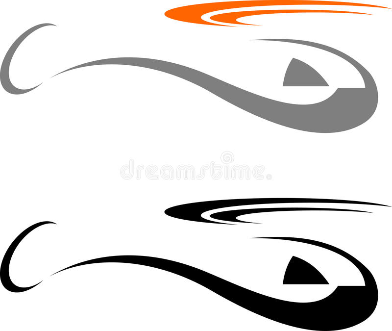Helicopter. Stylized image of the helicopter. Vector illustration stock illustration