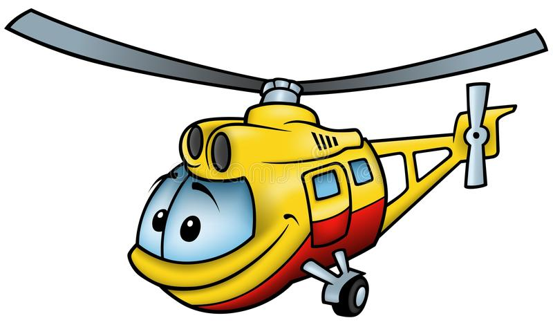 Helicopter. Colored cartoon illustration stock illustration