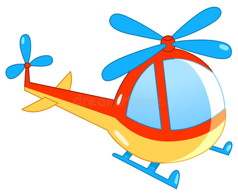 Helicopter. Illustration of a colorful helicopter vector illustration