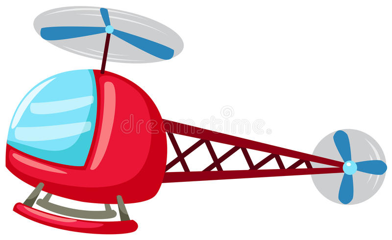Helicopter. Illustration of isolated cartoon helicopter on white background vector illustration