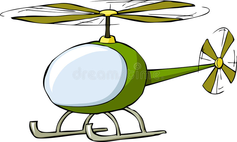 Helicopter. On a white background, vector vector illustration
