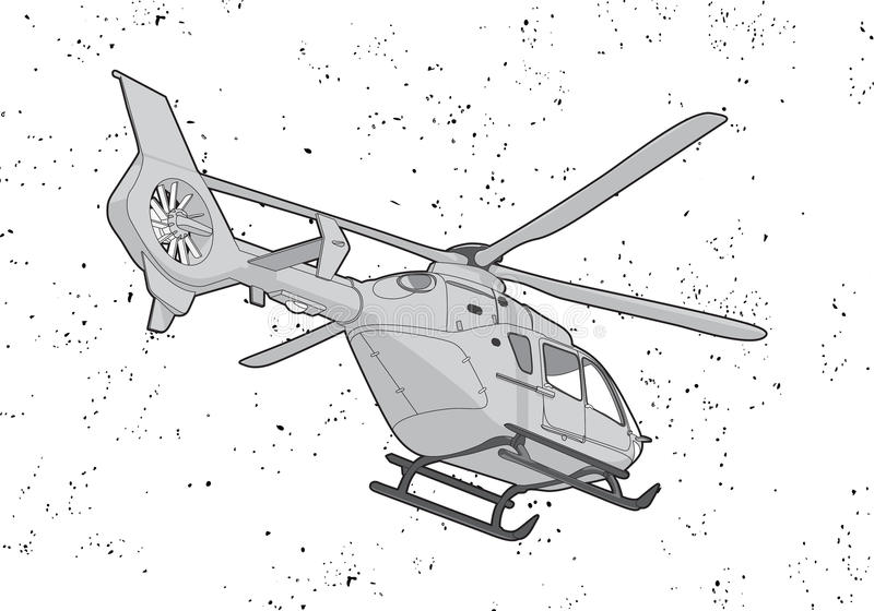 Download Helicopter stock vector. Illustration of spin, coverage - 25222554