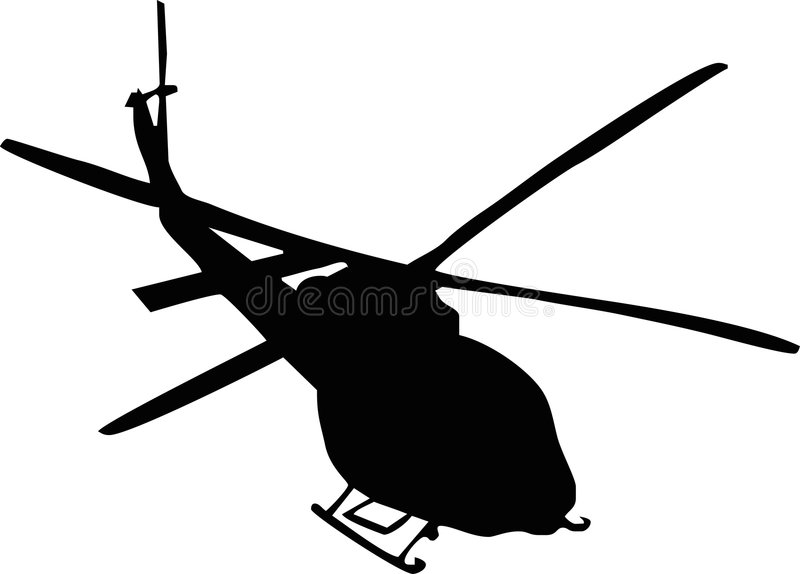Helicopter. Illustration of a helicopter silhouette royalty free illustration