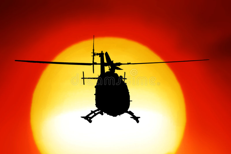Download Helicopter stock image. Image of target, gyro, light, silhouette - 7178641