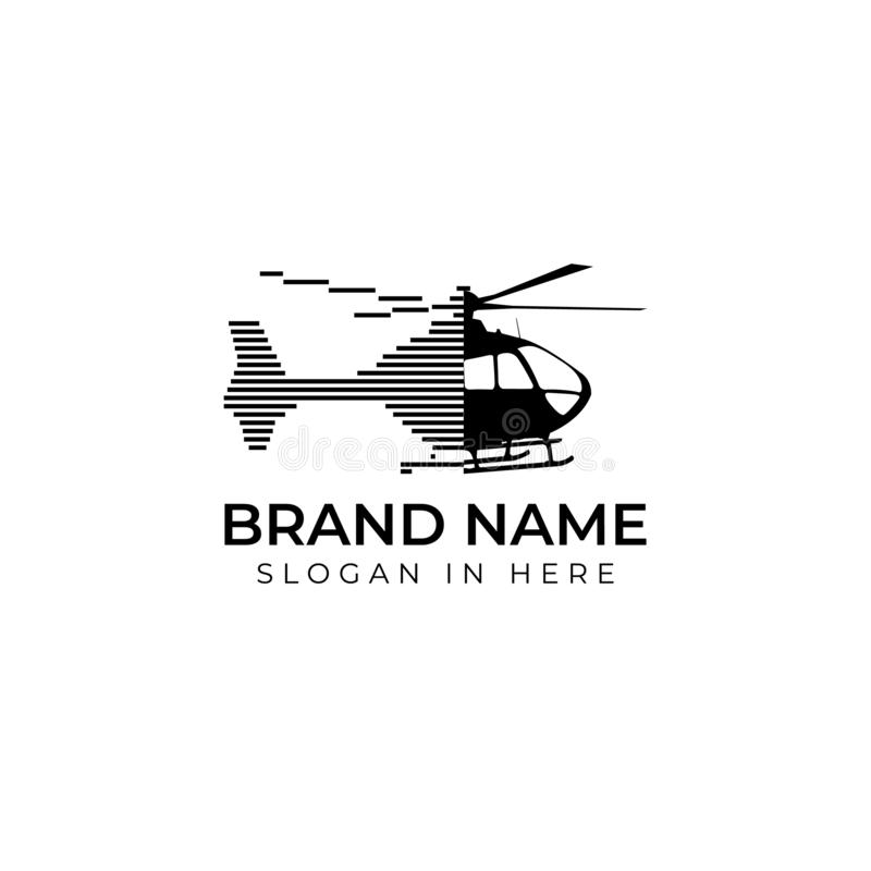 Helicopter with city crypto and finance shaped inside logo vector design element royalty free illustration