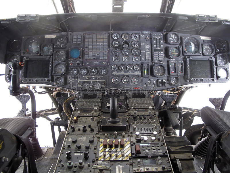 Helicopter Cockpit royalty free stock image
