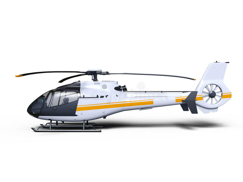 Helicopter. 3D CG rendering of a helicopter royalty free illustration