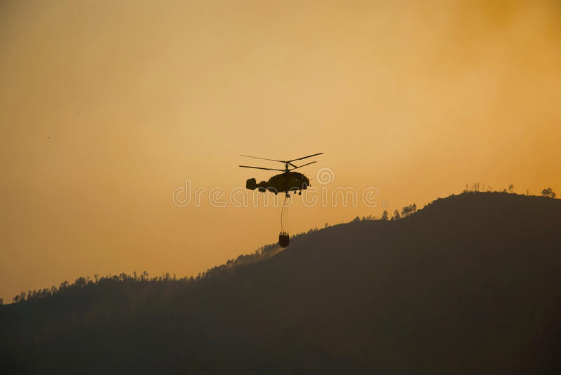 Download Helicopter Fighting Fire Royalty Free Stock Image - Image: 15575896