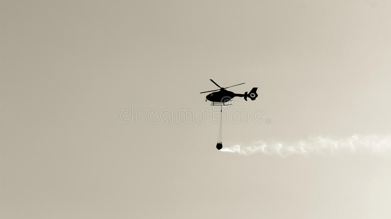 Helicopter fire royalty free stock photos
