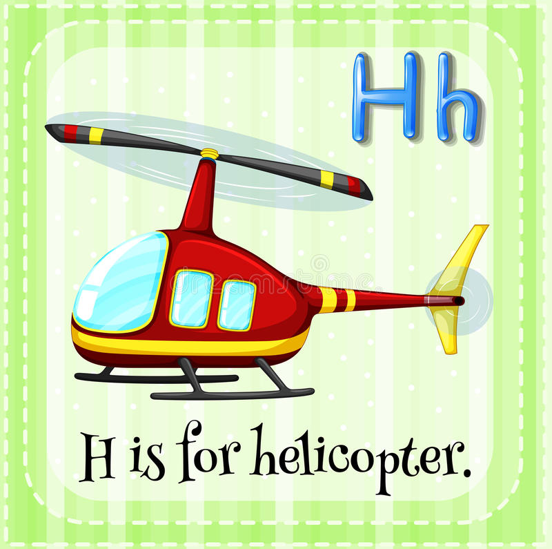 Helicopter. Flashcard alphabet H is for helicopter royalty free illustration