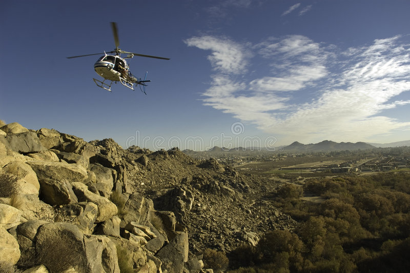 Helicopter Flight stock photo