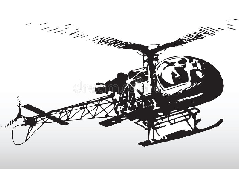 Download Helicopter in flight stock vector. Illustration of sketch - 9396643