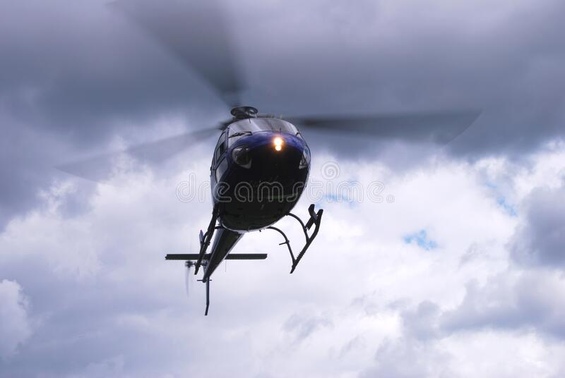 Helicopter in the air royalty free stock image