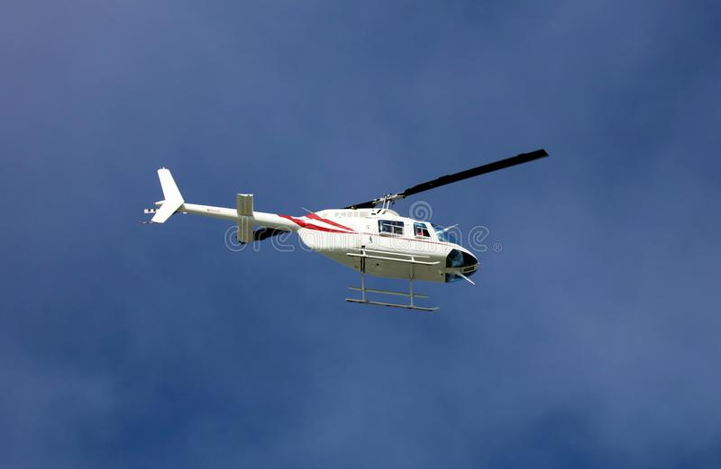 Helicopter flying in the skies of South Florida Miami beach. Ambulance health Helicopter flying in the skies of South Florida Miami beach stock images