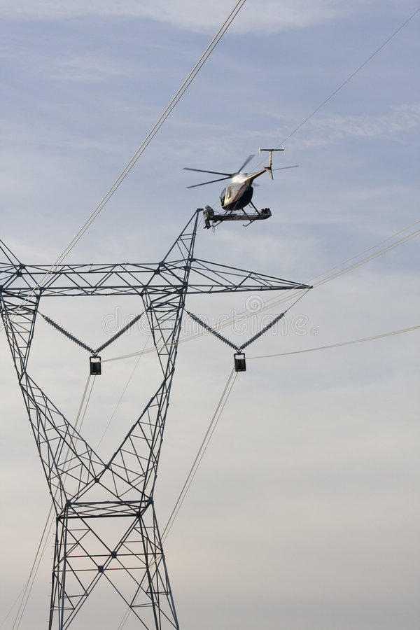 Free Helicopter High Lines Construc Stock Photography - 4541382