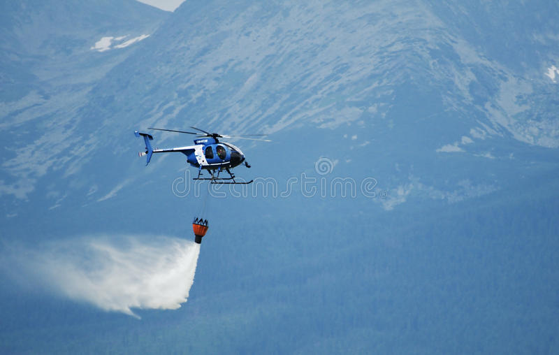 Helicopter Hughes MD 530F - Fighting Fir stock photography