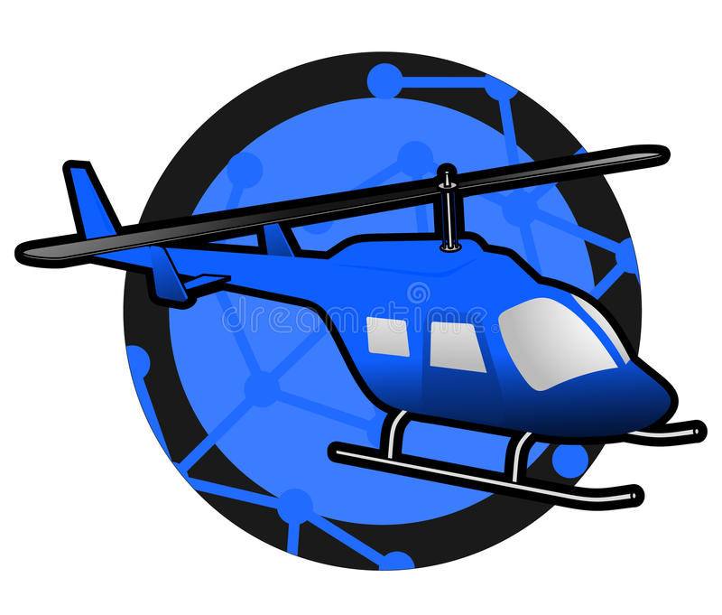 Helicopter icon stock illustration