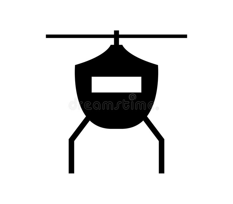 Helicopter icon illustrated. On white background vector illustration