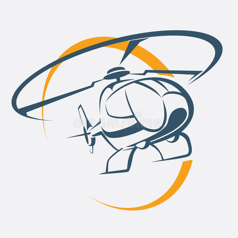 Helicopter icon. Stylized vector symbol stock illustration