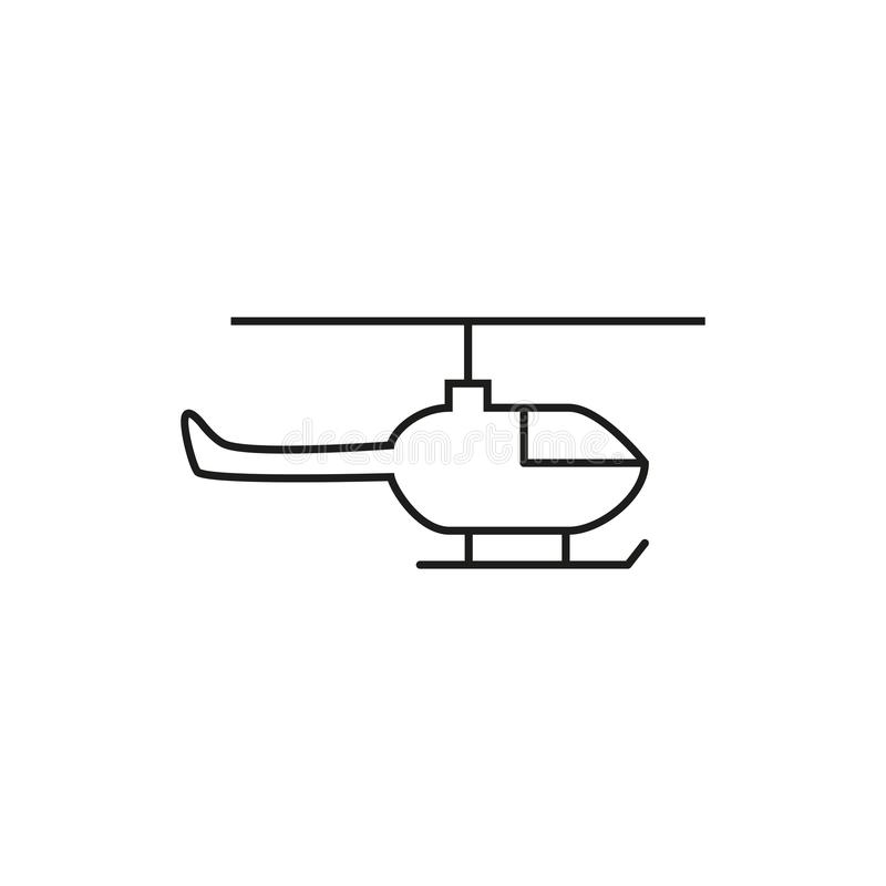 Helicopter of icon. On the white background stock illustration
