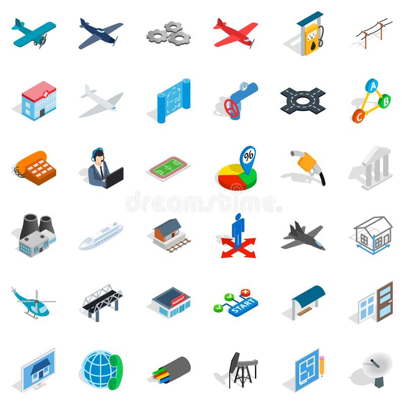 Helicopter icons set, isometric style. Helicopter icons set. Isometric style of 36 helicopter vector icons for web isolated on white background vector illustration