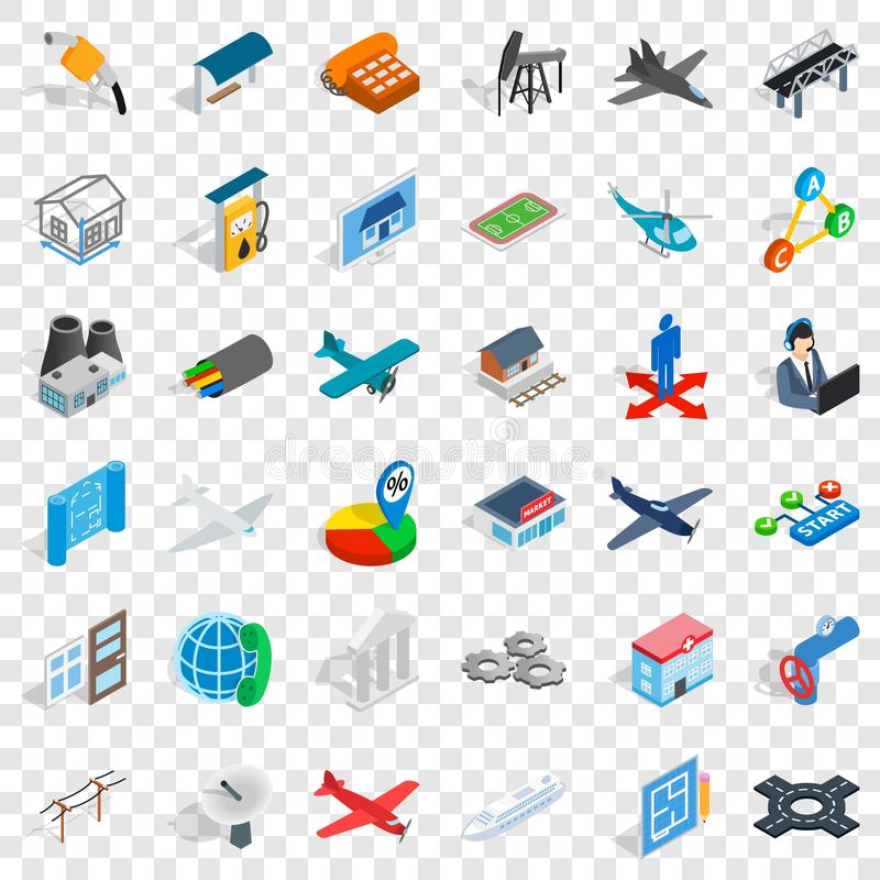 Helicopter icons set, isometric style. Helicopter icons set. Isometric style of 36 helicopter vector icons for web for any design vector illustration