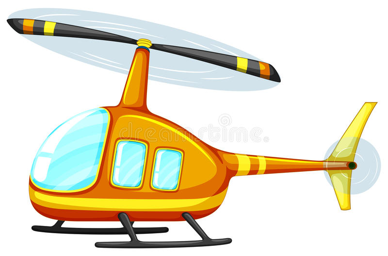 Helicopter. Illustration of a close up helicopter royalty free illustration