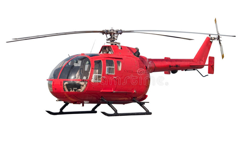 Helicopter isolated royalty free stock photo