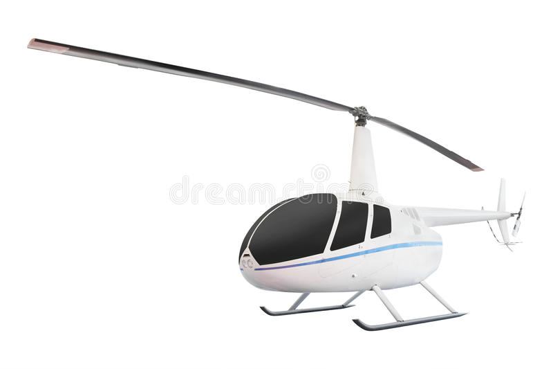 Helicopter. Isolated under the white background stock photo