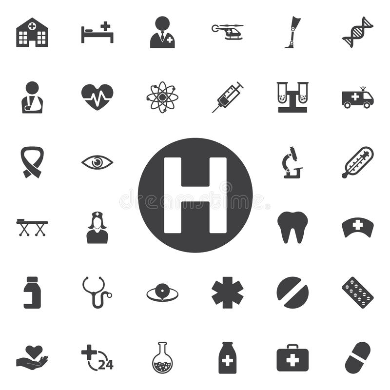 Helicopter landing pad icon. Isolated on background. Modern flat, business, marketing, internet concept. Trendy Simple vector symbol for web site design or royalty free illustration
