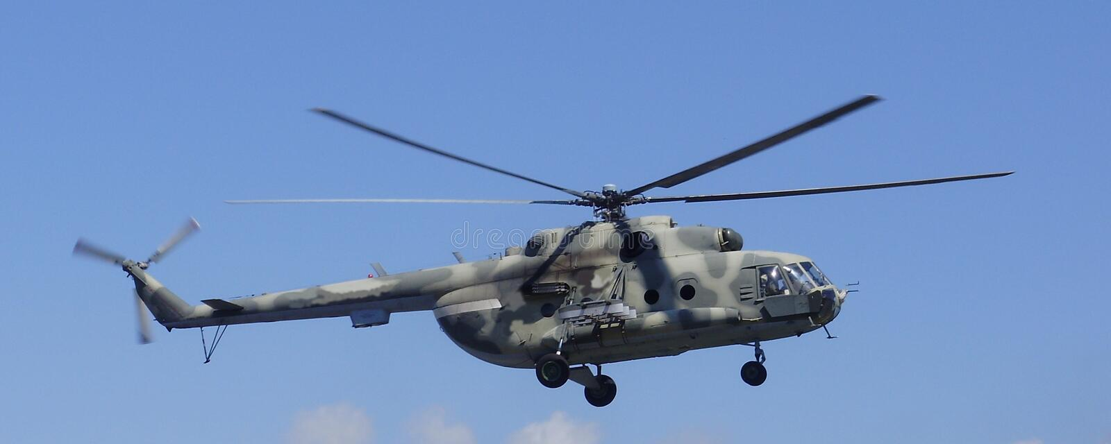 Helicopter MI-8 in the sky royalty free stock image