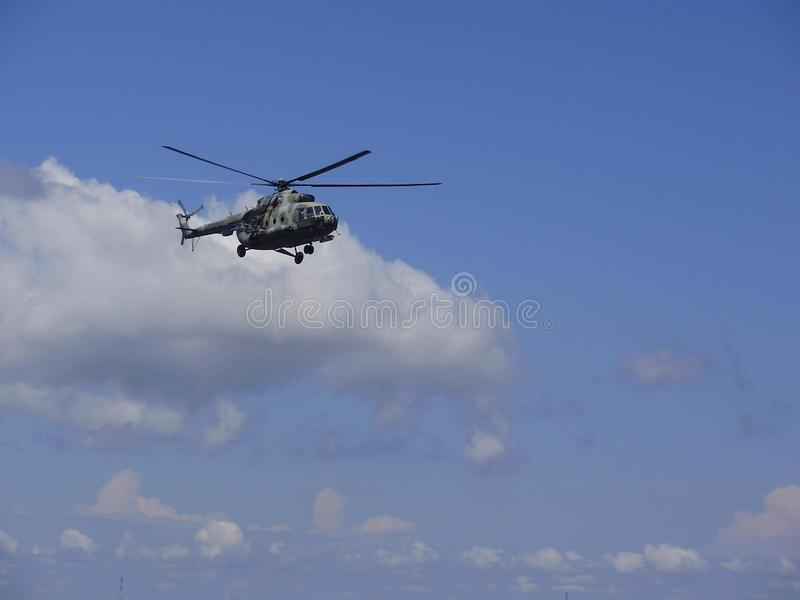 Helicopter MI-8 in the sky royalty free stock images