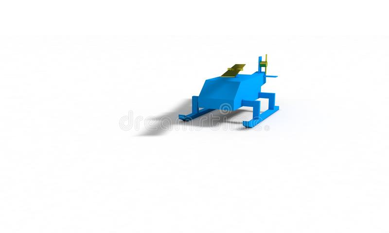 Helicopter model for kids with contrast colors stock illustration