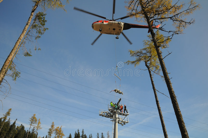 Helicopter mounting stock photos