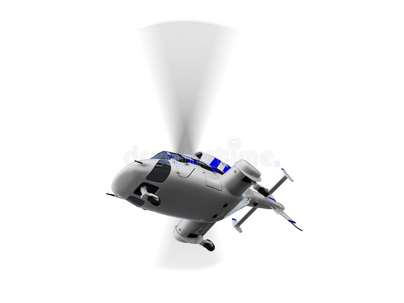 Helicopter over white royalty free stock photography