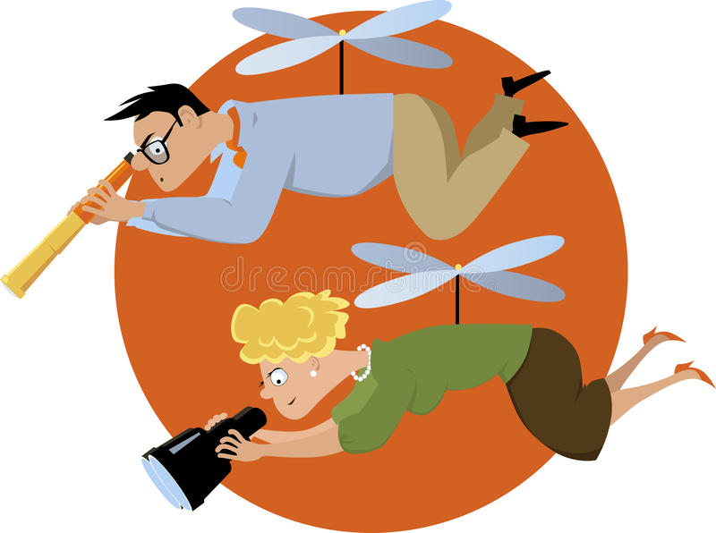 Helicopter Parent Stock Illustrations – 30 Helicopter Parent Stock