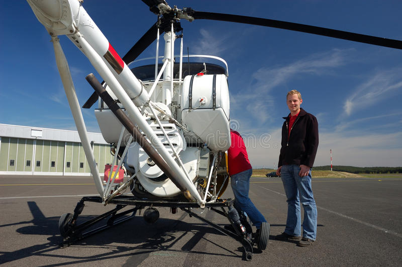 Download Helicopter Pilot stock image. Image of chopper, male - 13638367