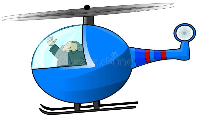 Download Helicopter Pilot stock illustration. Illustration of wave - 3937539