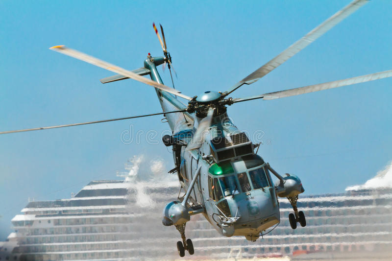 Helicopter Seaking royalty free stock image