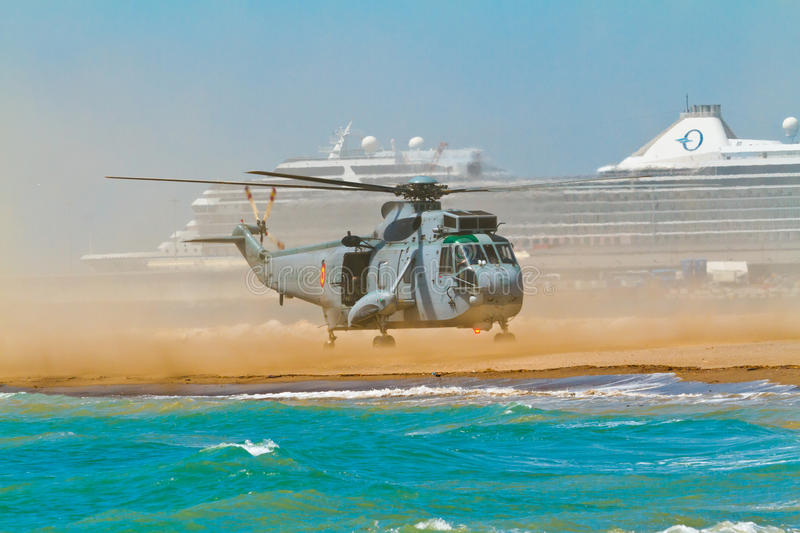 Helicopter Seaking stock photo