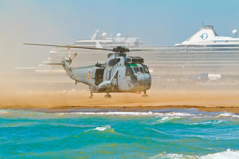 Helicopter Seaking stock image