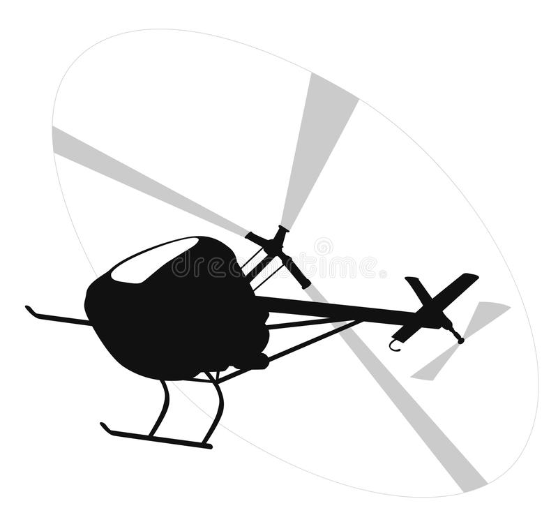 Free Helicopter Silhouette Royalty Free Stock Images - 55329959