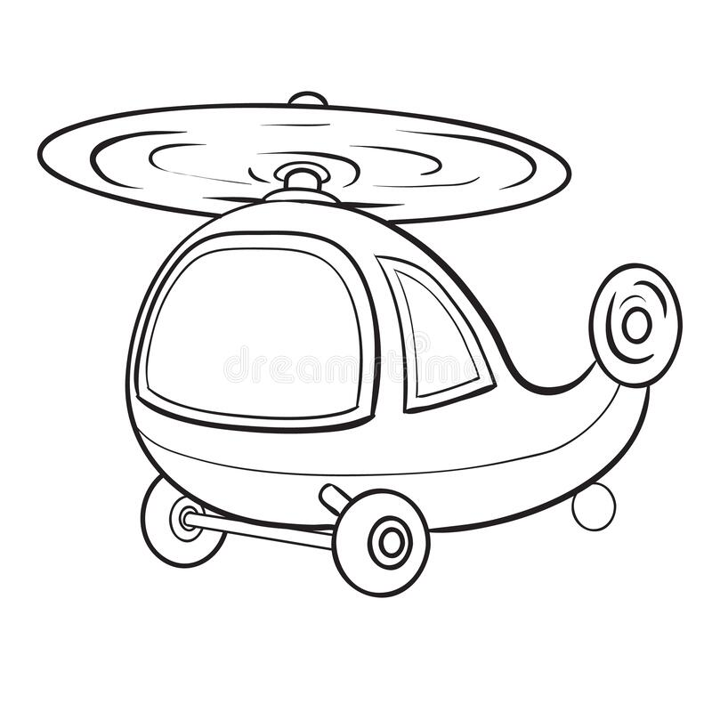 Free Helicopter Sketch Coloring Book, Isolated Object On White Background, Vector Illustration, Stock Images - 186188694