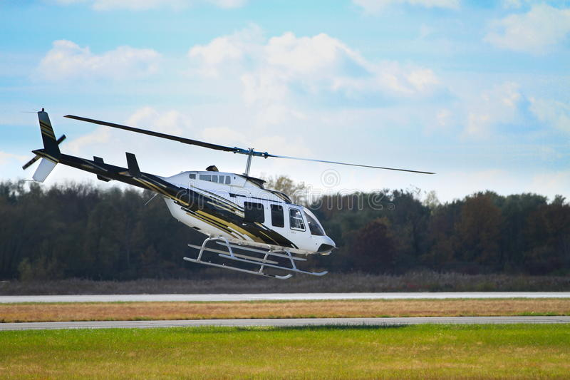 Helicopter take off royalty free stock photo