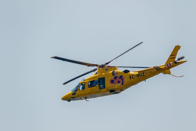 Helicoptero Augusta A109E royaltyfria foton