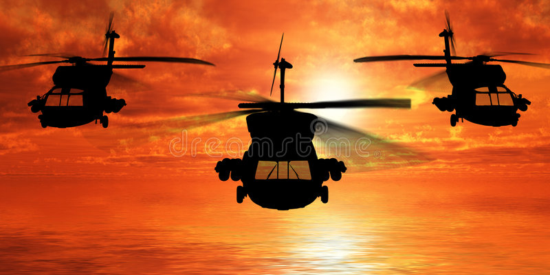 Helicopters. (see more in my portfoilo stock illustration