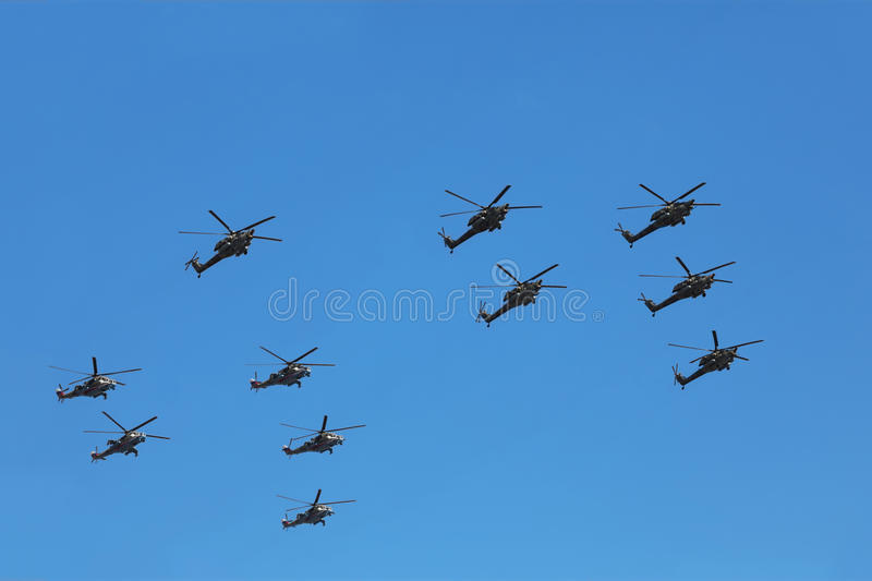 Download Helicopters Mi-24 And Mi-28n On Parade Editorial Stock Photo - Image: 17888163