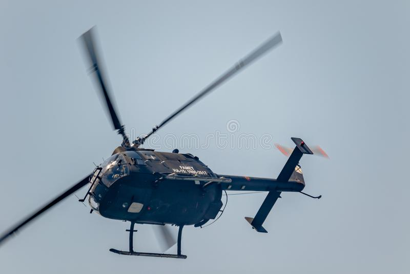 Helicoter Messerschmitt-Bölkow-Blohm BO-105 royaltyfri foto