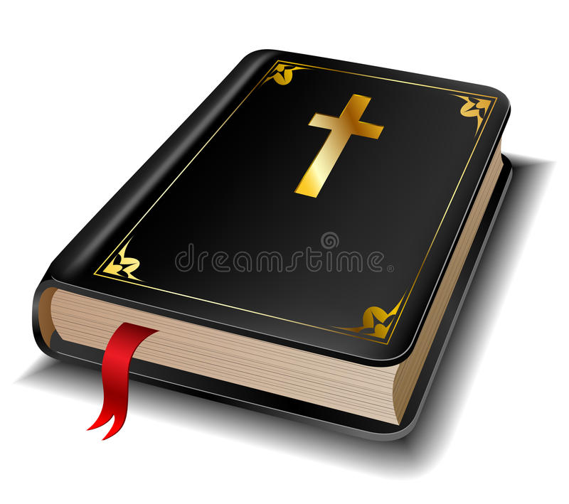 Helig bibel royaltyfri illustrationer