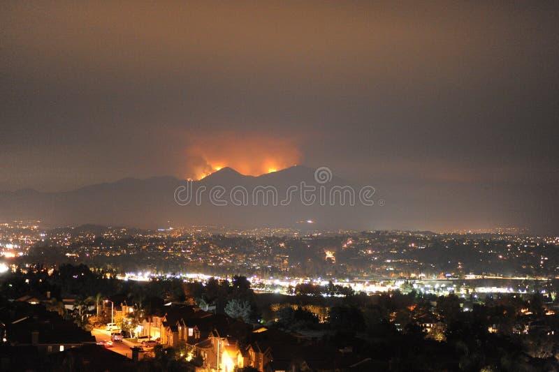 Helig brand, orange län, Kalifornien, USA, Augusti 09, 2018 arkivbild